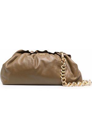 Pinko Gathered chain-trim leather bag