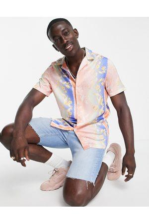 ASOS Men Casual - Revere shirt in summer baroque border print