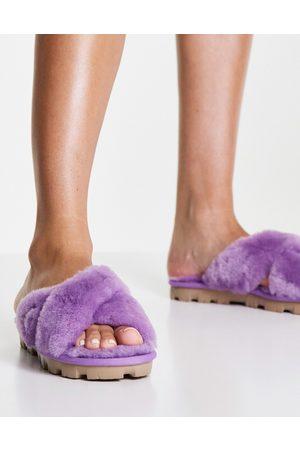 UGG Women Loungewear - Fuzzette crossover slippers in -Purple