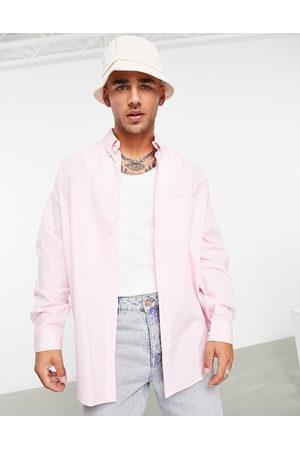 ASOS Men Casual - Volume oversized dad shirt in pastel