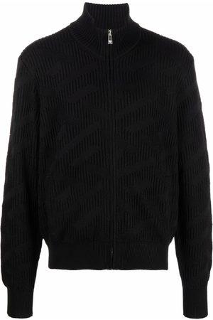 VERSACE Ribbed-knit cardigan