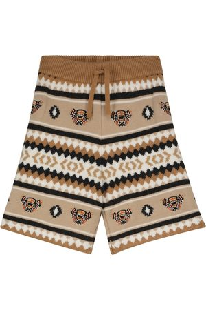 Burberry Boys Shorts - Intarsia-knit wool and cashmere shorts