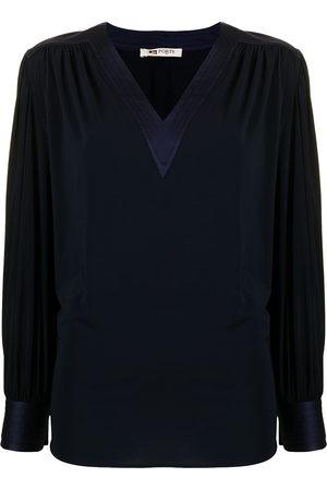 PORTS 1961 Women Blouses - Bishop-sleeved silk blouse
