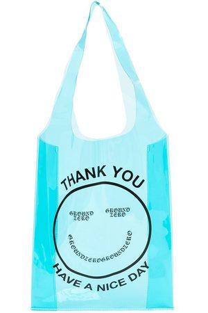 Ground Zero Women Tote Bags - Smiley-logo transparent tote bag