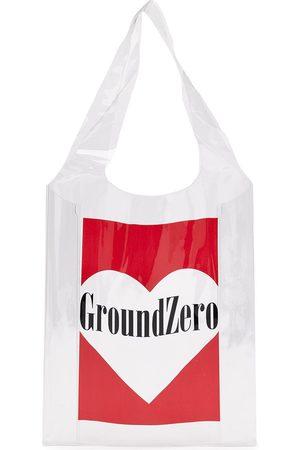 Ground Zero Logo-print transparent tote bag