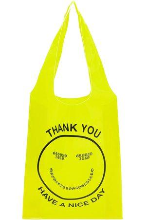 Ground Zero Smiley-logo transparent tote bag
