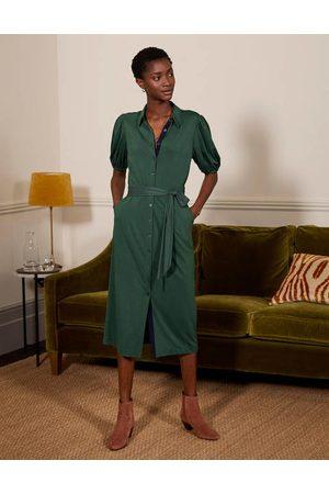 Boden Women Casual Dresses - Puff Sleeve Jersey Shirt Dress Women