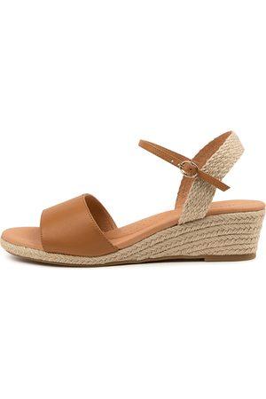 Diana Ferrari Harissa Df Dk Tan Sandals Womens Shoes Casual Heeled Sandals