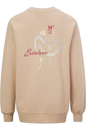 Evisu Women Sweatshirts - Sashiko Seagull and Kamon Print Oversize Sweatshirt