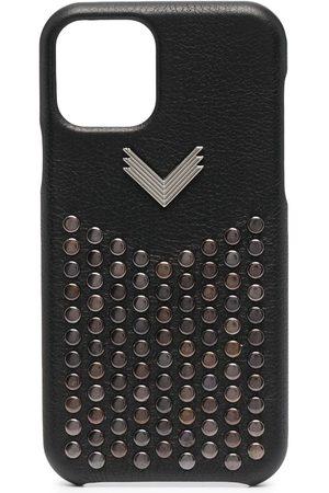 Manokhi Phone Cases - Studded leather iPhone 11 Pro case