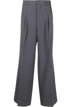 Ami Men Wide Leg Pants - Front-pleat wide-leg trousers
