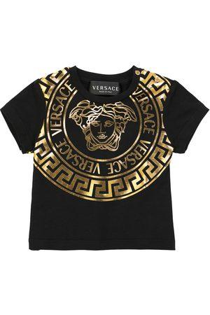 VERSACE Baby logo stretch-cotton T-shirt