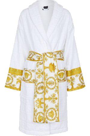 VERSACE Printed cotton bathrobe
