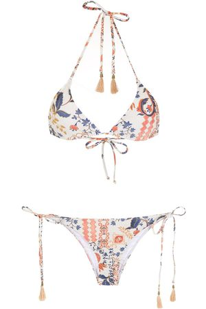 Lygia & Nanny Women Bikinis - Maya printed tassel-detail bikini