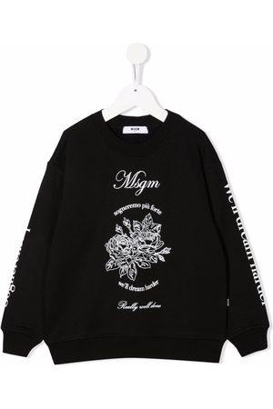 Msgm Logo-print cotton sweatshirt