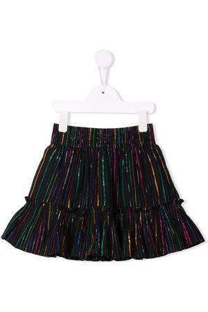 Stella McCartney Kids Girls Printed Skirts - Rainbow lurex striped skirt