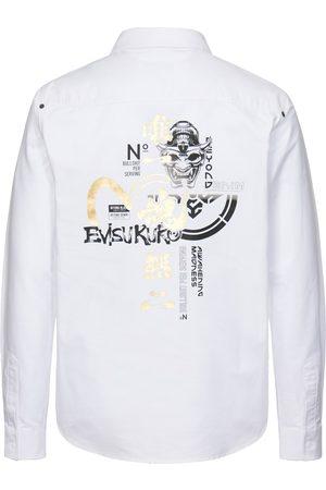 Evisu Men Shirts - Multi Graphic Print Oxford Shirt