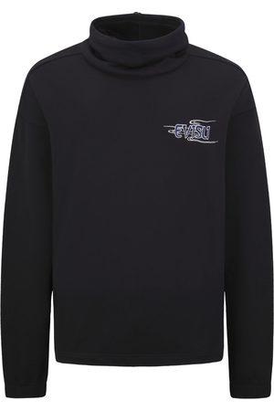 Evisu Kamon and Logo Print Turtleneck Sweatshirt