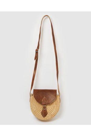 Miz Casa and Co Grace Woven Crossbody Bag - Beach Bags (Natural ) Grace Woven Crossbody Bag