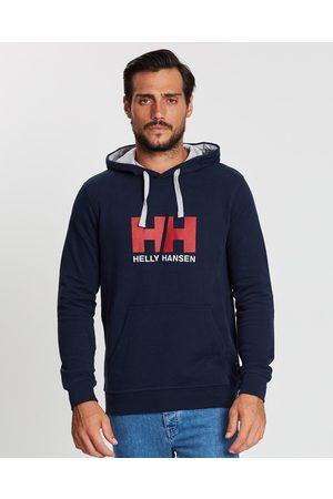 Helly Hansen Men Hoodies - HH Logo Hoodie - Hoodies (Navy) HH Logo Hoodie