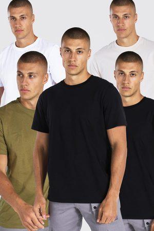 Boohoo Men Short Sleeve - Mens Multi 5 Pack Basic Crew Neck T-shirt