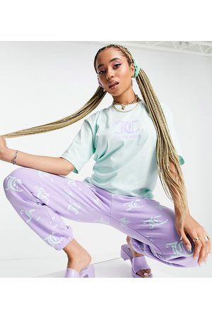Juicy Couture Women Short Sleeve - X ASOS oversized tee with logo in mint green