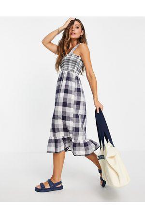 Accessorize Women Beach Dresses - Gingham beach dress in