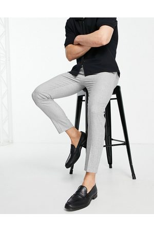 ASOS Tapered smart pants in micro texture