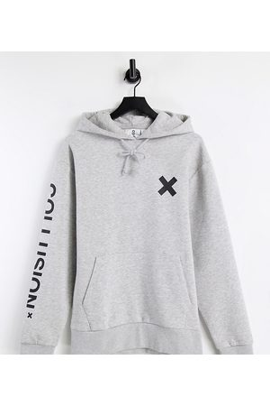 COLLUSION Unisex organic cotton logo hoodie in marle