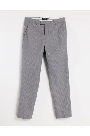 Burton Men Chinos - Burton slim fit micro check pants in dark