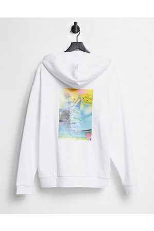 ASOS Oversized hoodie in with glossy back print