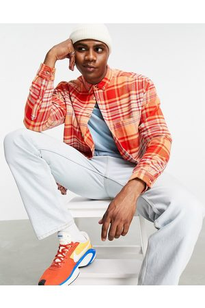 ASOS Men Casual - 90s oversized brushed flannel check shirt in