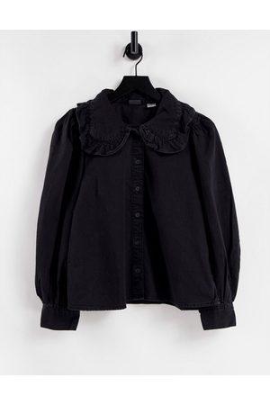 Levi's Frill collar denim shirt in black