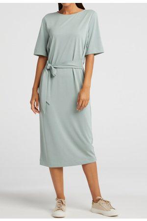 YaYa Jersey dress with belt concrete