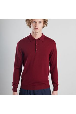 L'exception Paris Long Sleeved Polo Burgundy