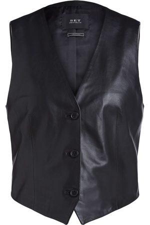 Set Fashion Set Leather Waistcoat