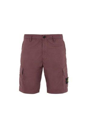 Stone Island Burgundy Cargo Shorts