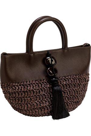 Serena Uziyel Melita Umber Small Round Tote Bag