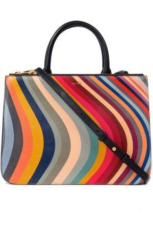 Paul Smith Swirl Print Leather Tote Bag
