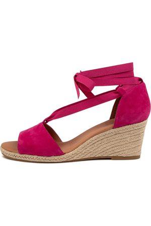 Diana Ferrari Jamba Df Magenta Sandals Womens Shoes Casual Heeled Sandals