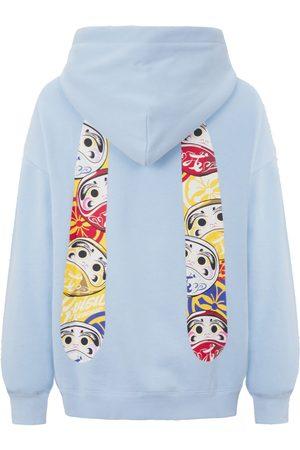 Evisu Women Sweatshirts - Daruma Daicock Print Sweatshirt