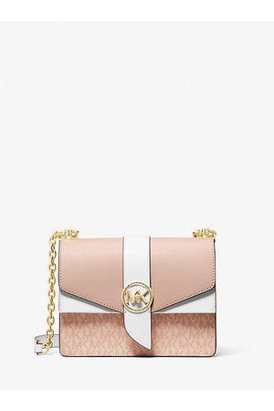 Michael Kors Women Handbags - MK Greenwich Small Color-Block Logo and Saffiano Leather Crossbody Bag - Ballet Multi - Michael Kors