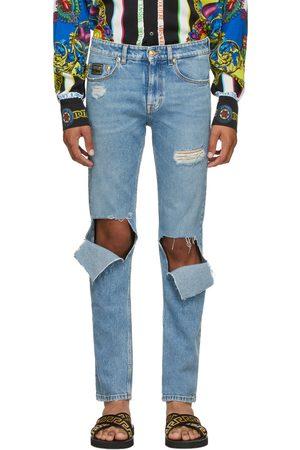 VERSACE Men Straight - Straight Leg Ripped Jeans