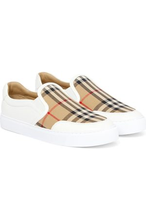 Burberry Archive Check leather sneakers