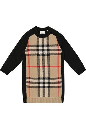 Burberry Kids Checked sweater dress
