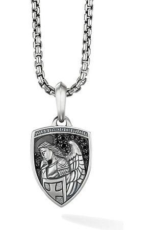 David Yurman Amulets St. Michael Sterling & Pavé Black Diamond Pendant