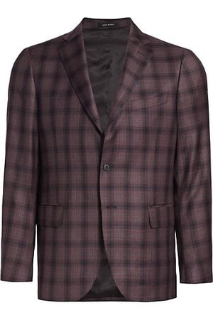 Saks Fifth Avenue Plaid Two-Button Sportcoat