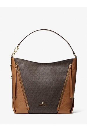 MICHAEL Michael Kors Women Shoulder Bags - MK Brooklyn Large Logo Shoulder Bag - Brn/acorn - Michael Kors