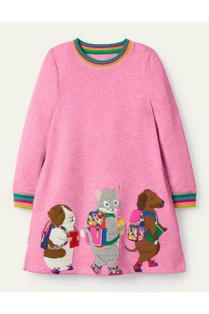 Boden Appliqué Sweatshirt Dress Girls