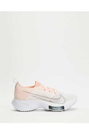 Nike Air Zoom Tempo NEXT% Women's - Performance Shoes (Sunset Tint, Fog, Igloo & Barely ) Air Zoom Tempo NEXT% - Women's